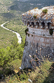 The watchtower of Agios Georgios Fortress